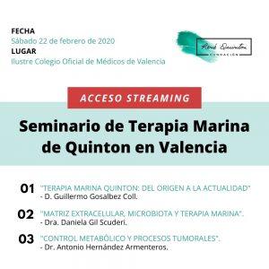Seminario Terapia Marina Valencia 2020 – DIRECTO STREAMING