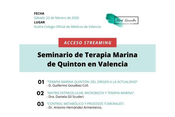 Seminario Terapia Marina Quinton Valencia