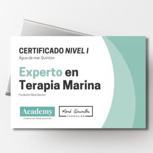 Certificado Nivel I. Experto en Terapia Marina